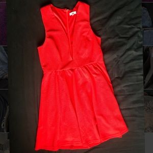 Lucca couture red deep v neck dress